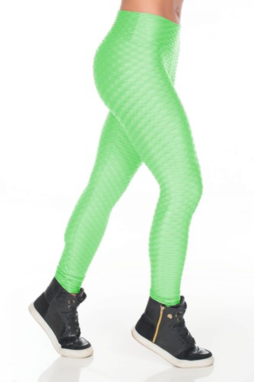 Calça Legging Fitness Alto Relevo Cirrê 1adf67640e9